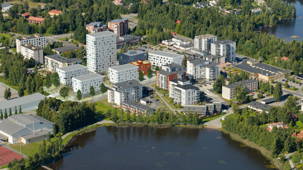 City block at the centre of Pirkkala